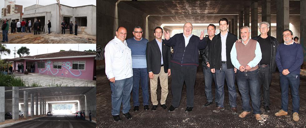 No Pinheirinho, Greca anuncia anel metropolitano de transportes