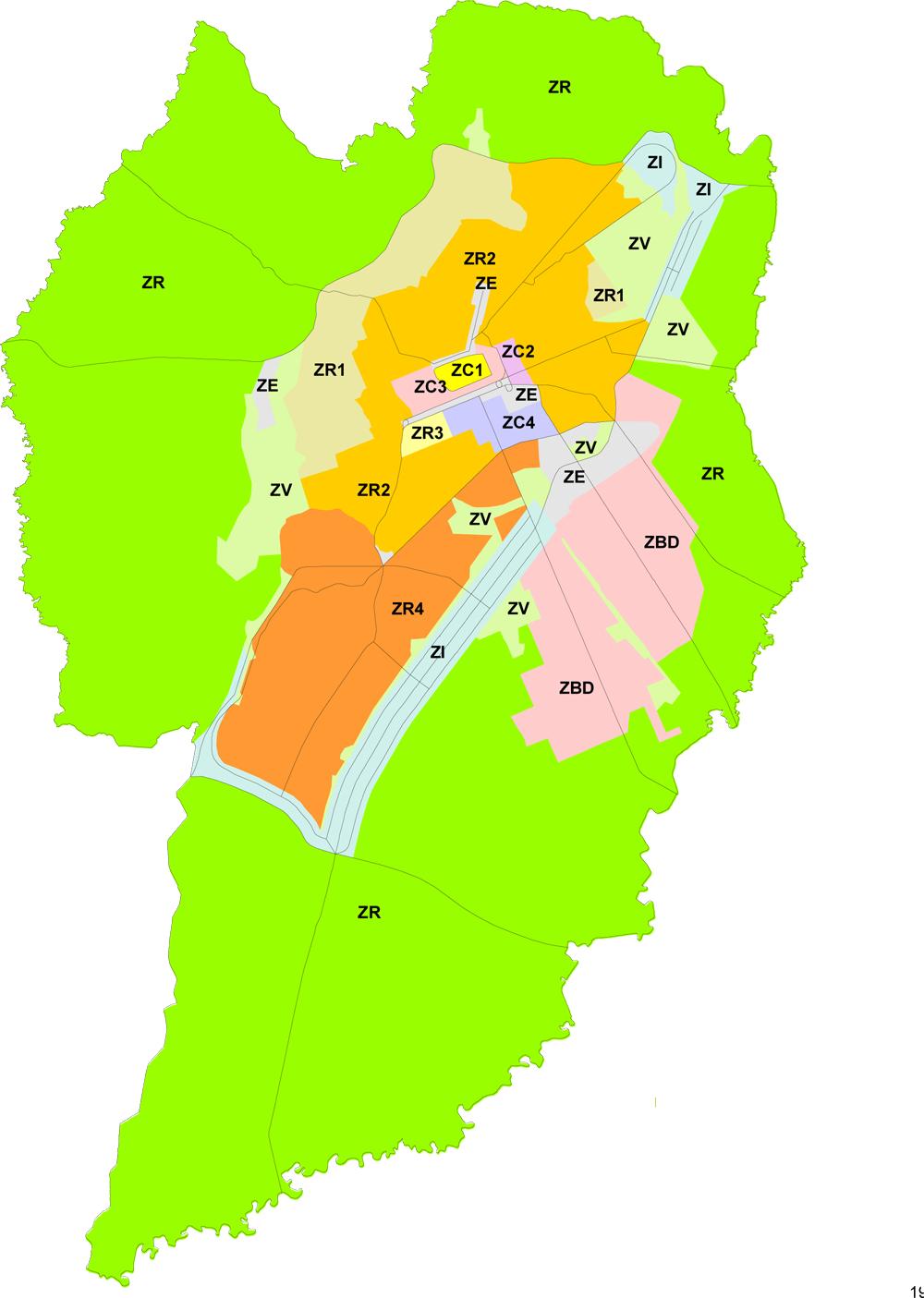 Plano Preliminar de Urbanismo - Zoneamento