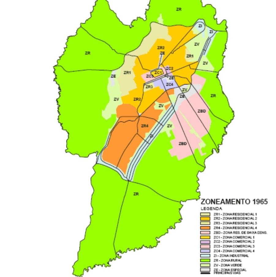 Zoneamento 1965