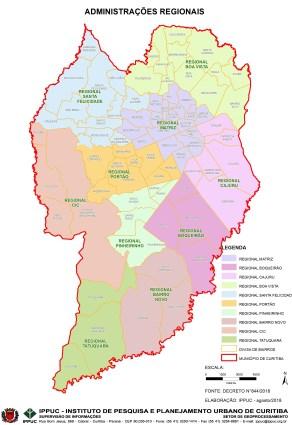 políticos - adm regionais com bairros colorido