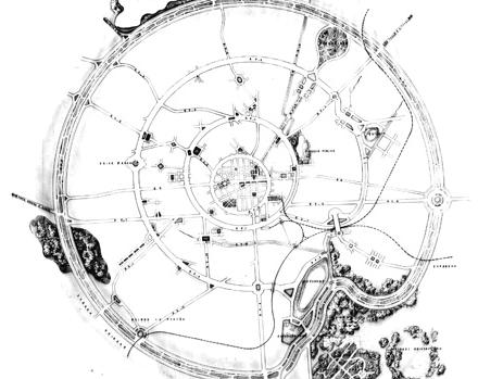 Esquema do Plano Agache - crescimento radial