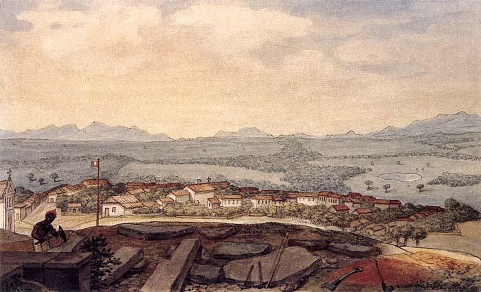 Uma das primeiras imagens de Curitiba - Jean Debret, 1827